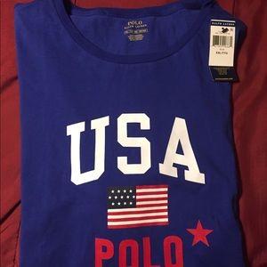 Mens Blue Ralph Lauren Polo Shirt
